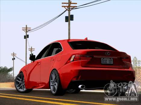 Lexus IS350 2014 F-SPORT para GTA San Andreas left