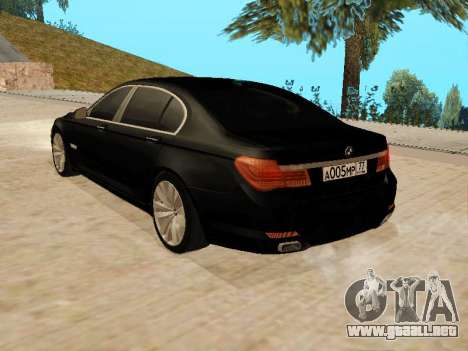 BMW 730Li para GTA San Andreas left