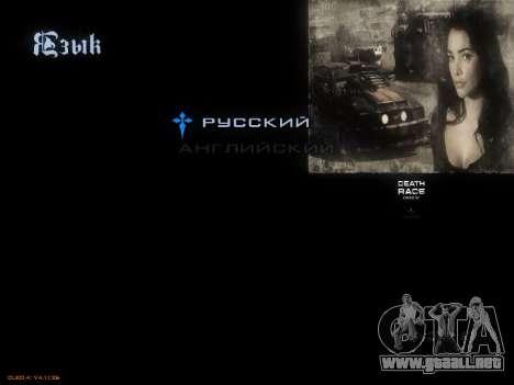 Menú De La Carrera De La Muerte para GTA San Andreas quinta pantalla