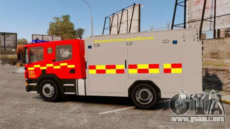 Scania 94D 260 BAS1 Stockholm Fire Brigade [ELS] para GTA 4 left