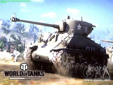 La pantalla de inicio de World of Tanks para GTA San Andreas segunda pantalla