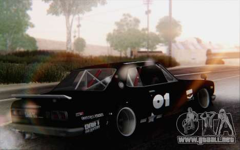 Nissan Skyline 2000 GTR Drift para GTA San Andreas left