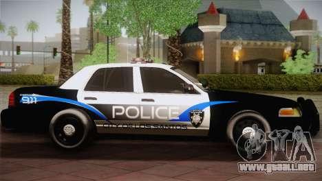 Ford Crown Victoria Police Interceptor 2009 para GTA San Andreas left