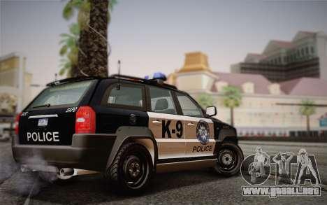 NFS Suv Rhino Light - Police car 2004 para GTA San Andreas vista posterior izquierda