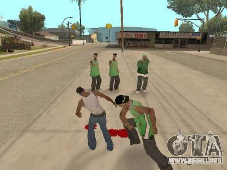 Ir a la cuadrilla de Ballas para GTA San Andreas segunda pantalla