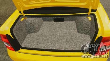 VAZ-Lada Priora 2170 para GTA 4 vista lateral