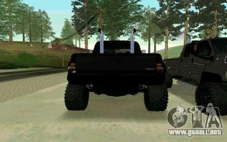 GMC Topkick para GTA San Andreas left