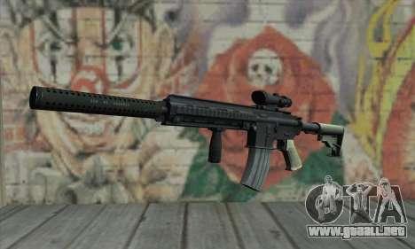M416 with ACOG sight and silenced para GTA San Andreas