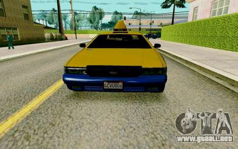 GTA V Taxi para GTA San Andreas left
