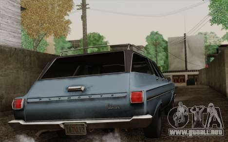 Plymouth Belvedere Station Wagon 1965 para GTA San Andreas left
