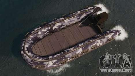 US Navy SEAL Zodiac para GTA 4 visión correcta