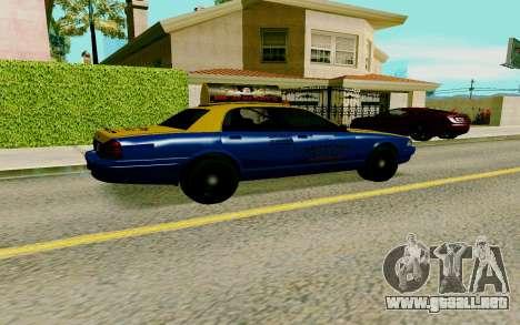 GTA V Taxi para GTA San Andreas vista posterior izquierda