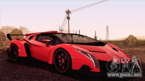 Lamborghini Veneno Roadster LP750-4 2014 para GTA San Andreas left