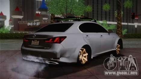 Lexus GS250 F para GTA San Andreas vista posterior izquierda