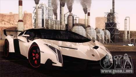 Lamborghini Veneno Roadster LP750-4 2014 para GTA San Andreas vista hacia atrás