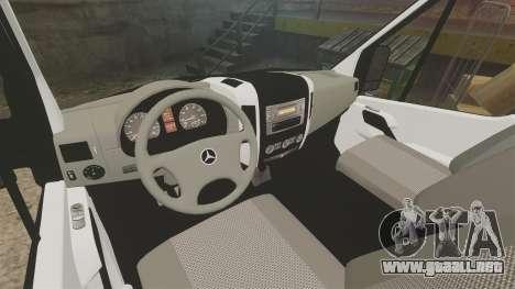 Mercedes-Benz Sprinter 313 CDI Police [ELS] para GTA 4 vista hacia atrás