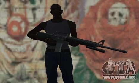 M16 de L4D para GTA San Andreas tercera pantalla