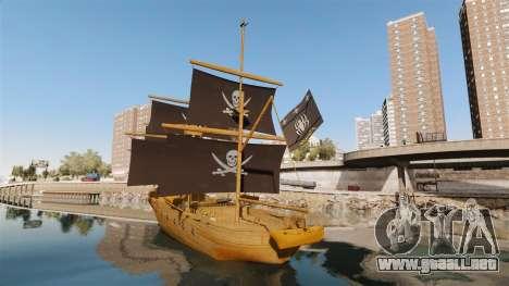 Barco pirata para GTA 4 Vista posterior izquierda