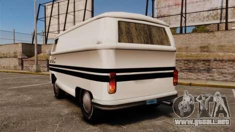 Volkswagen Transpoter 2 1975 para GTA 4 Vista posterior izquierda