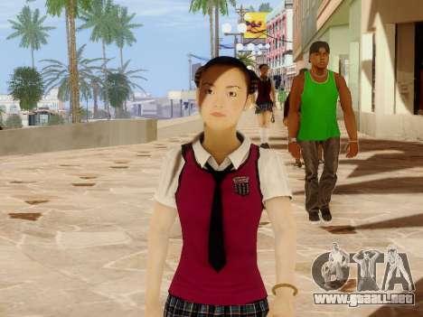 Hanako para GTA San Andreas segunda pantalla