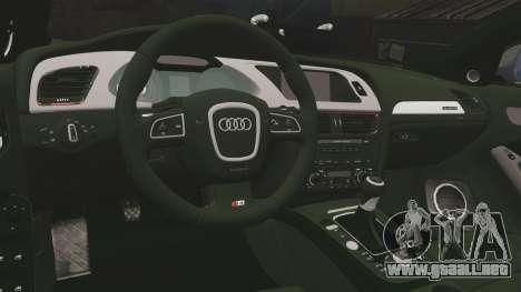 Audi S4 2013 Metropolitan Police [ELS] para GTA 4 vista lateral
