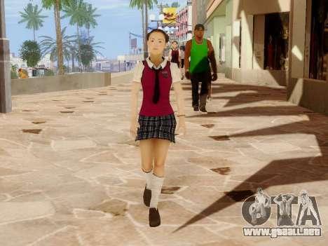 Hanako para GTA San Andreas novena de pantalla