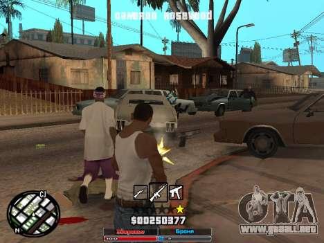 Cleo Hud Cameron Rosewood para GTA San Andreas tercera pantalla