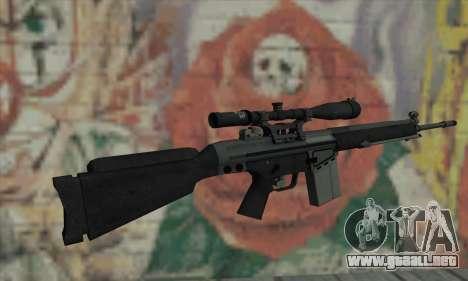 Rifle de francotirador de L4D para GTA San Andreas segunda pantalla