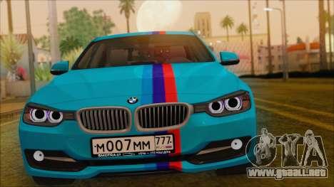BMW 328d 2014 para la visión correcta GTA San Andreas