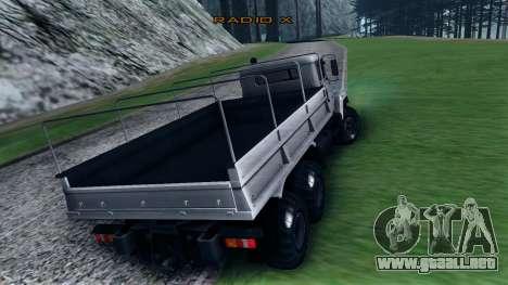 Kraz 6322 para la visión correcta GTA San Andreas