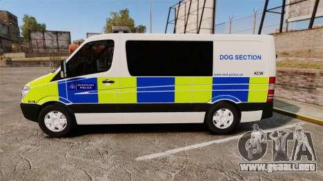 Mercedes-Benz Sprinter 211 CDI Police [ELS] para GTA 4 left