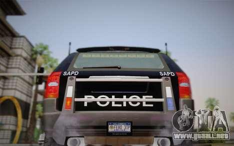 NFS Suv Rhino Heavy - Police car 2004 para visión interna GTA San Andreas