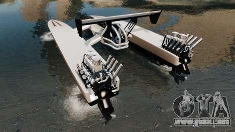 Dragboat Twin V8 para GTA 4 Vista posterior izquierda
