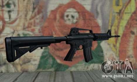 M4 RIS Carbine para GTA San Andreas segunda pantalla