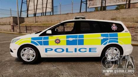 Ford Focus Estate British Police [ELS] para GTA 4 left
