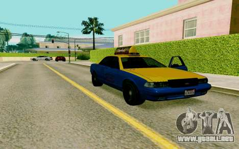 GTA V Taxi para la visión correcta GTA San Andreas