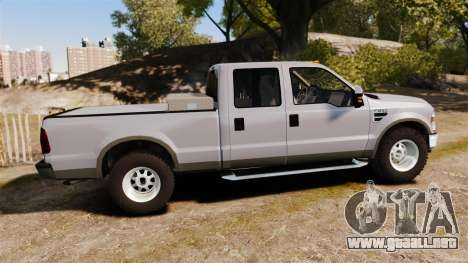 Ford F-250 Super Duty Police Unmarked [ELS] para GTA 4 left