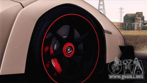 Lamborghini Veneno Roadster LP750-4 2014 para la vista superior GTA San Andreas