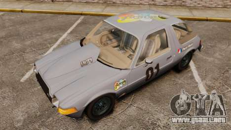 AMC Pacer para GTA 4 vista lateral