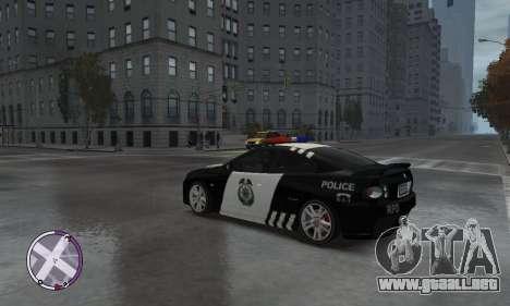 Holden Monaro CV8-R Police para GTA 4 Vista posterior izquierda