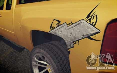 Chevrolet Silverado 2500 LTZ para GTA San Andreas vista hacia atrás