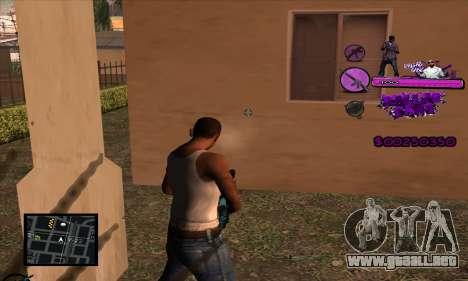 C-HUD Ballas Gang para GTA San Andreas sucesivamente de pantalla