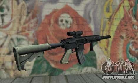 M416 with ACOG sight and silenced para GTA San Andreas segunda pantalla