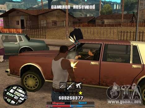 Cleo Hud Cameron Rosewood para GTA San Andreas segunda pantalla