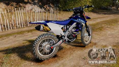 Kawasaki KX250F (Yamaha) para GTA 4 left