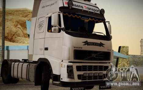 Volvo FH12 para visión interna GTA San Andreas
