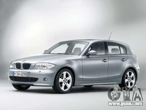Inicio pantallas BMW 120i para GTA 4 tercera pantalla