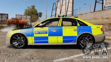 Audi S4 2013 Metropolitan Police [ELS] para GTA 4 left