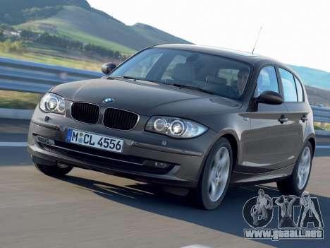 Inicio pantallas BMW 116i para GTA 4 quinta pantalla