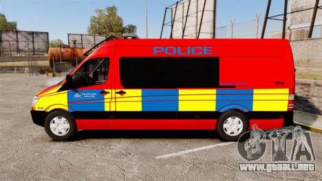 Mercedes-Benz Sprinter 313 CDI Police [ELS] para GTA 4 left